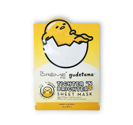 The Crème Shop: Gudetama Tighter 'N Brighter Sheet Face Mask
