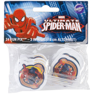 Ultimate Spider-man, Spiderman Party Cake Decoration Pix Sticks