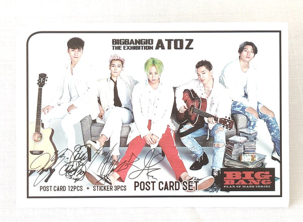 K-pop BIG BANG Postcard Photograph Set With stickers