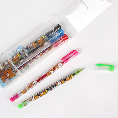 San-x Rilakkuma 5 Colour Gel Pen Set