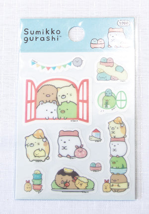 San-x Sumikko Gurashi Little Sticker Sheet - Window