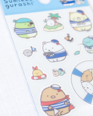 San-x Sumikko Gurashi Little Sticker Sheet - Sailor