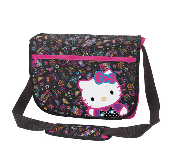 Hello Kitty Messenger School Bag  : Neon