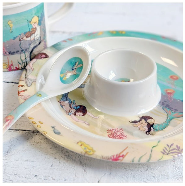 Belle & Boo Mermaid Breakfast/Dinner Set