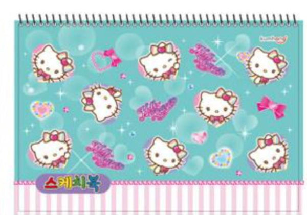 Hello Kitty Large Sketch Book - Turquoise