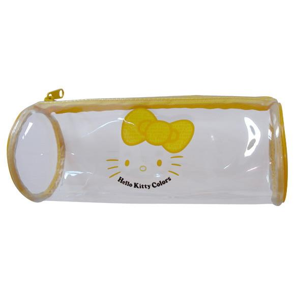 Hello Kitty Yellow Bow Transparent Pencil Case