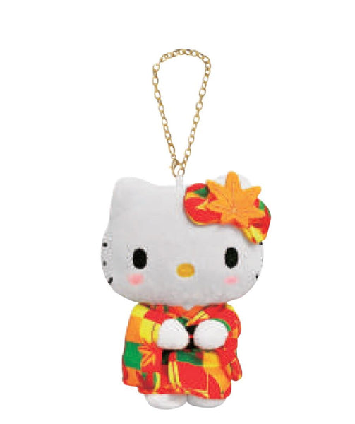 Hello Kitty Kimono Plush with Hanging Clip - Falling Leaves