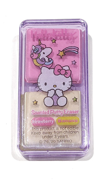 Hello Kitty Scented Putty Eraser 'Rainbows' - Strawberry & Banana