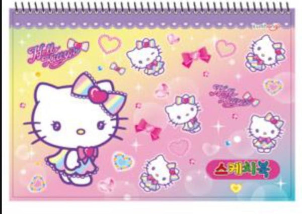 Hello Kitty Large Sketch Book - Lilac Trim