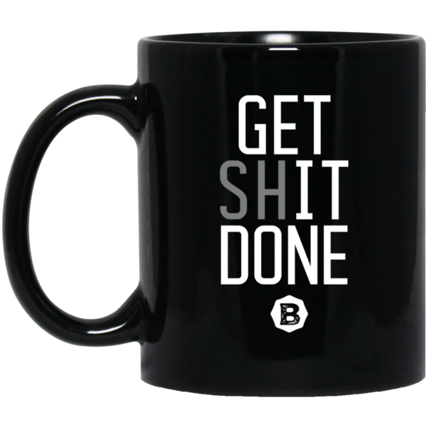 Get IT Done 11 oz. Black Mug