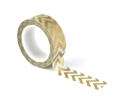 Gold Chevron Washi Tape