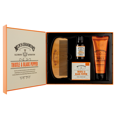 Thisttle & Black Pepper caja de regalo cuidado de barba The Scottish Fine Soaps