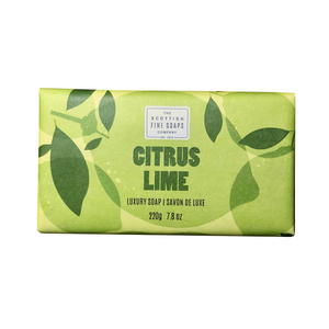 citrus lime jabón sólido the scottish fine soaps