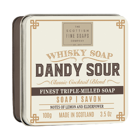 jabón dandy sour en lata the scottish fine soaps