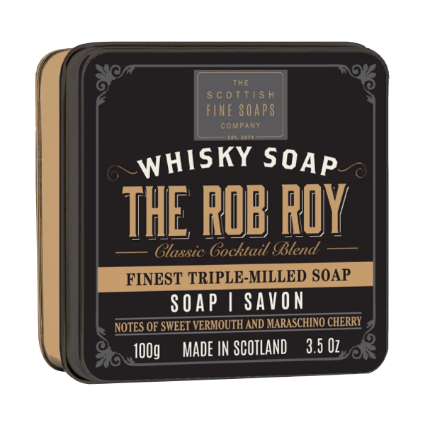 Rob Roy jabón sólido con jabonera The Scottish Fine Soaps