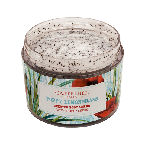 smoothie poppy lemongrass body scrub castelbel