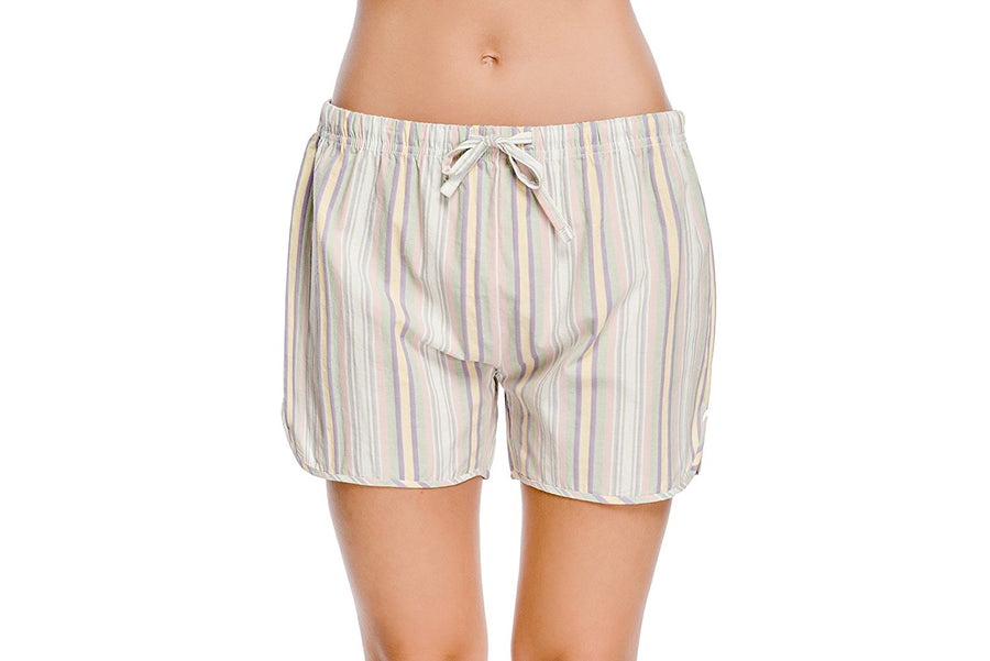 CYZ Women's 100% Cotton Woven Sleep Shorts Pajama Shorts Petite Fit with Lower Rise
