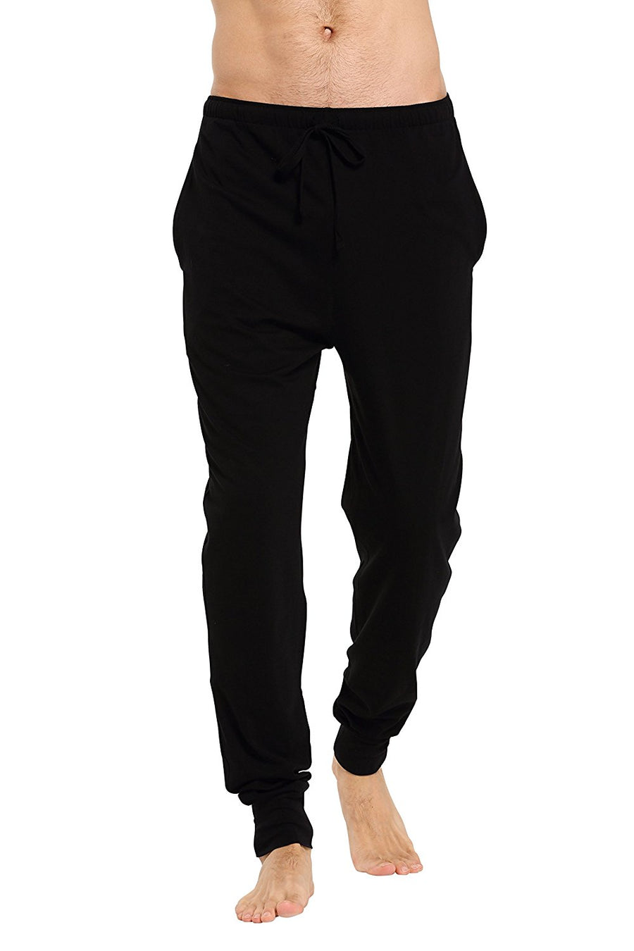 CYZ Men's Cotton Knit Jogger Lounge Pants with Drawstring