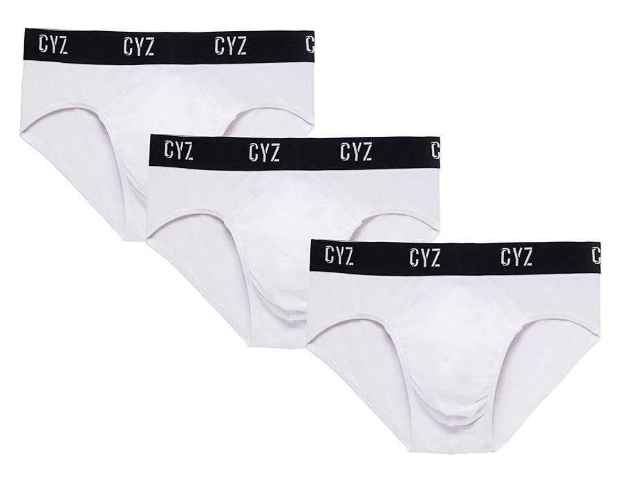 CYZ Men's 3-PK Cotton Stretch Hip Briefs for Men Pack of 3