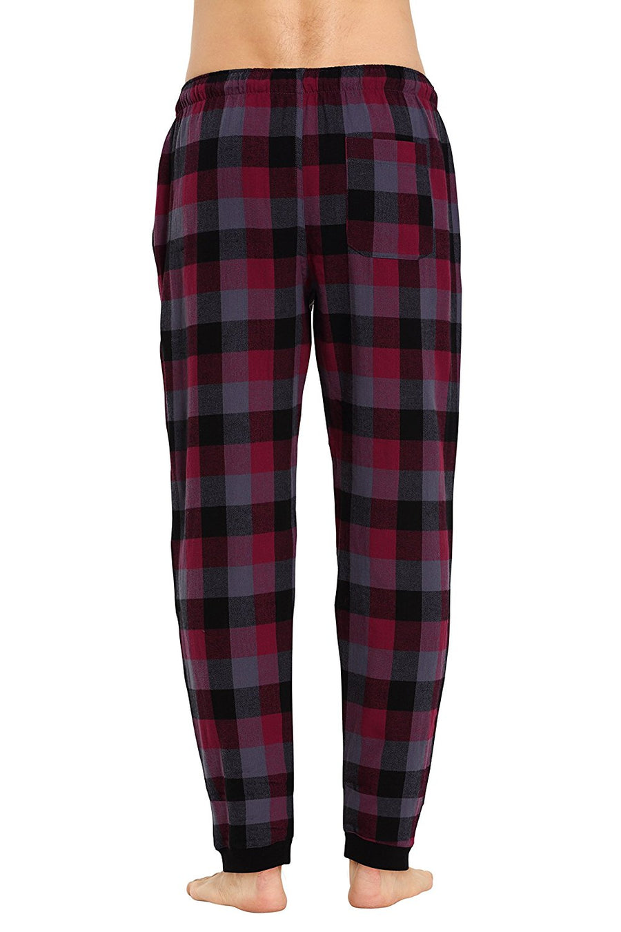 CYZ Men's 100% Cotton Flannel Jogger Pajama Lounge Pant