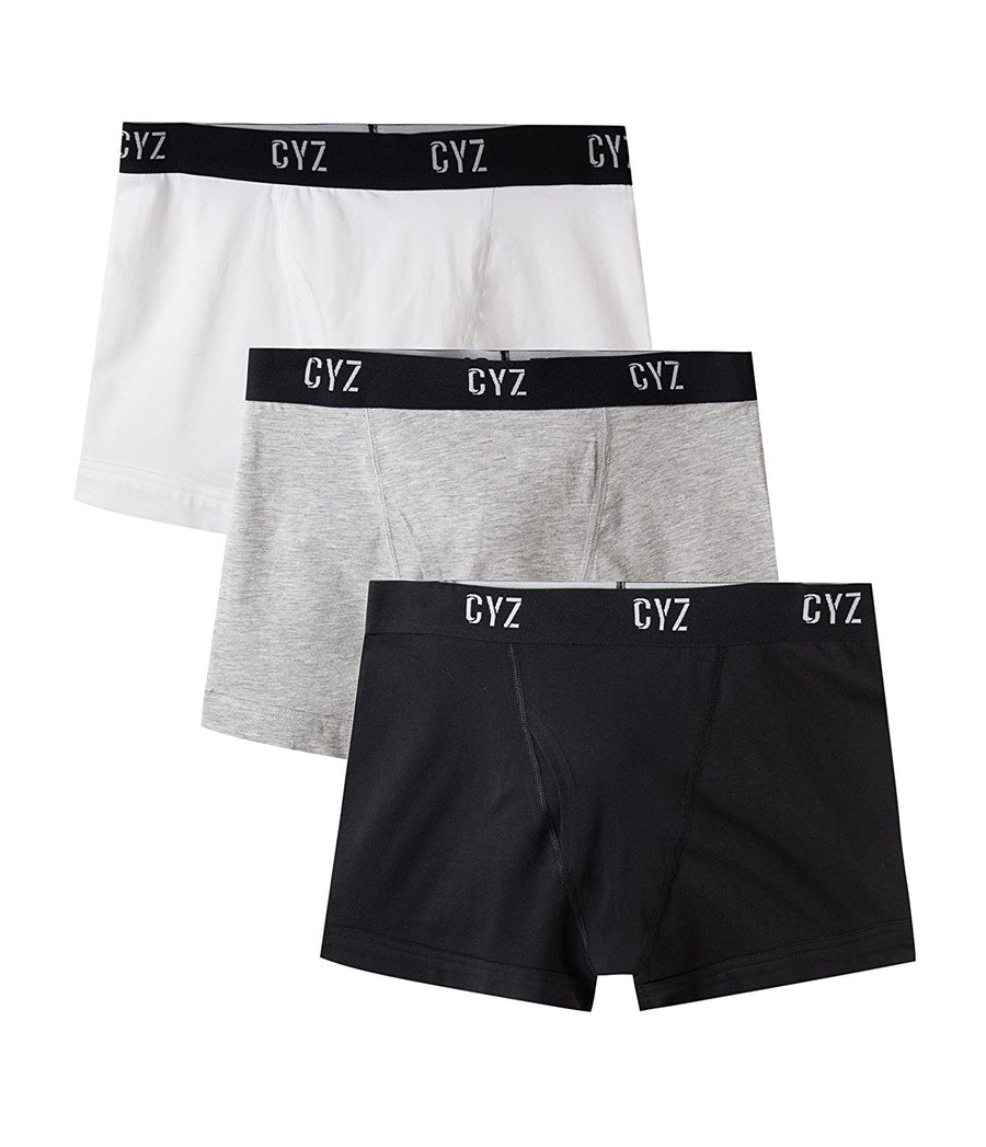 CYZ Men's 3-PK Cotton Stretch Trunks