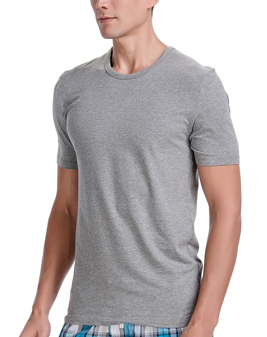 CYZ Mens Cotton Stretch Crew Neck T-Shirt Fitted 2-PK