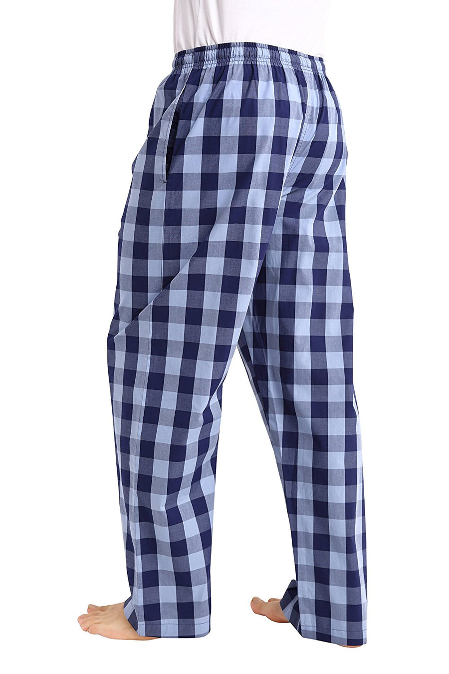 CYZ Men's 100% Cotton Poplin Pajama Lounge Sleep Pant