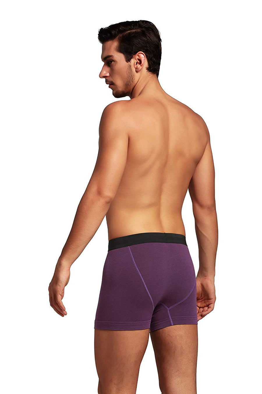 CYZ Men's 2-PK Bamboo Fiber Stretch Cotton Boxer Briefs
