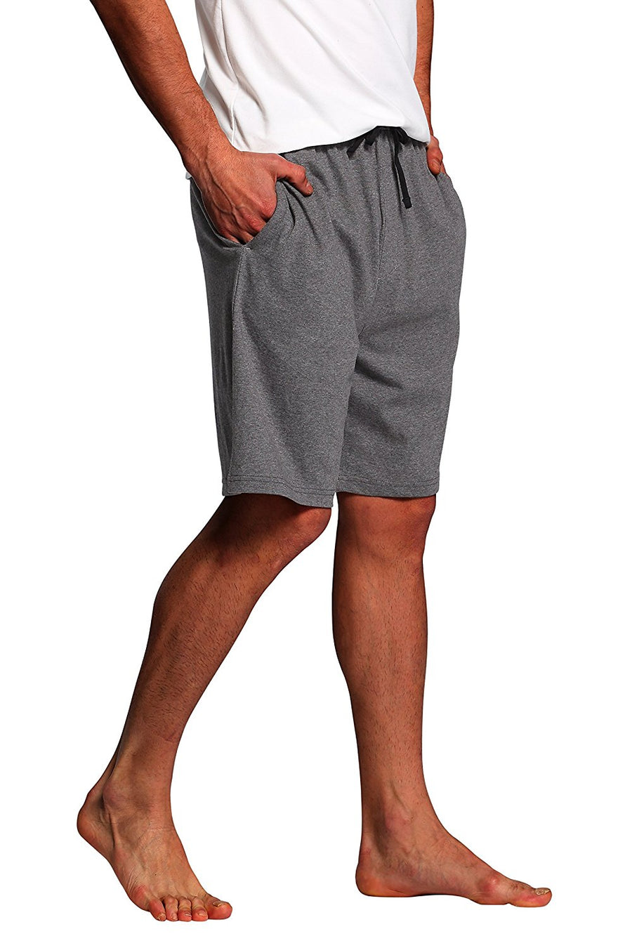 CYZ Men's Sleep Shorts - 100% Cotton Knit Sleep Shorts & Lounge Wear