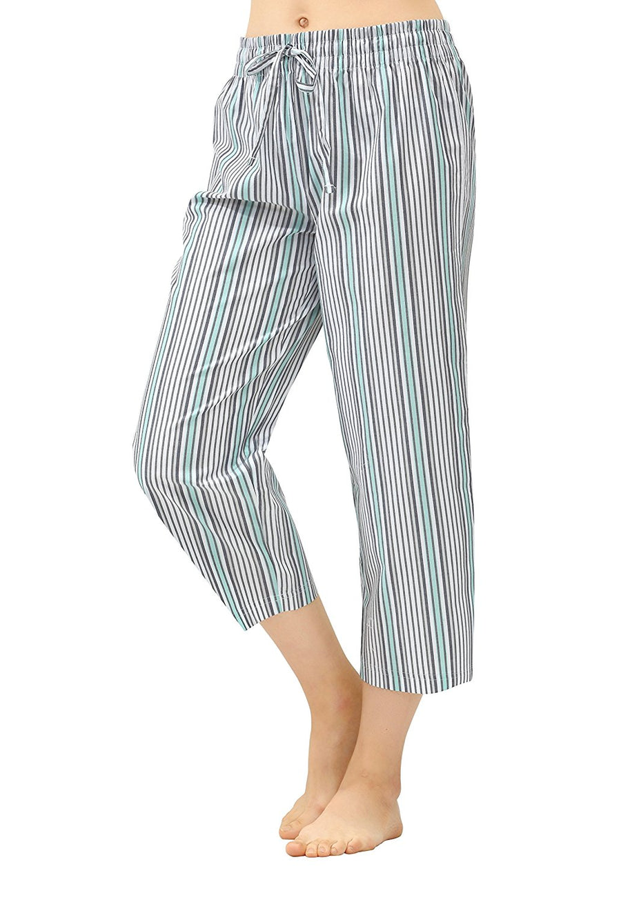 CYZ Women's 100% Cotton Woven Pajama Capri