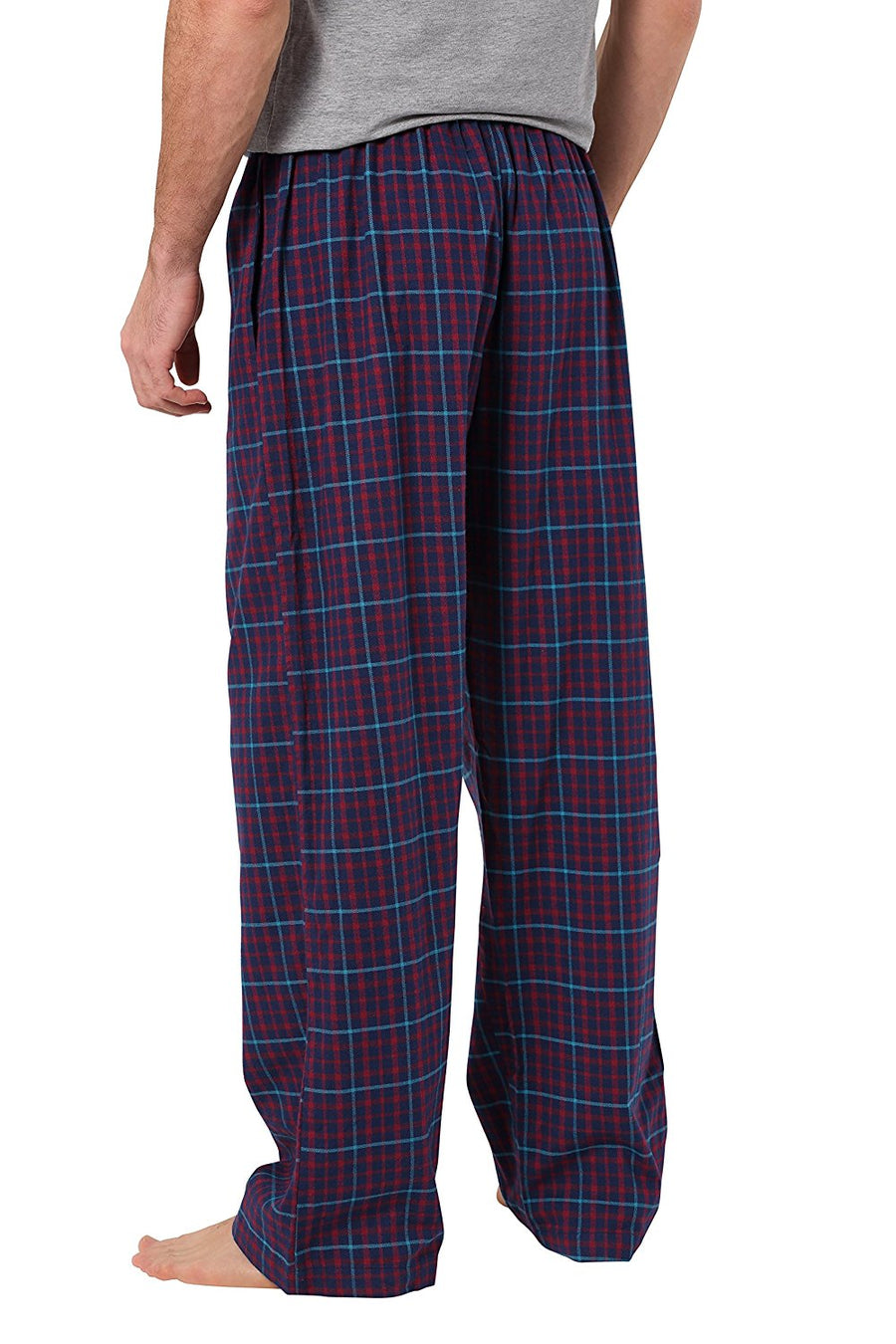 CYZ Men's 100% Cotton Super Soft Flannel Plaid Pajama Pants