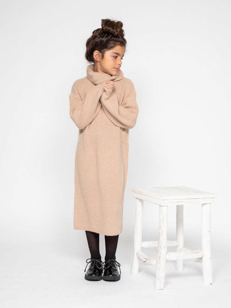 Robe cooconing longue Beige 4-14 ans