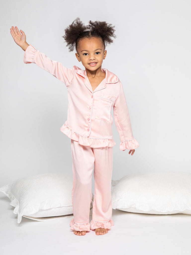Pyjama 3 pieces rose 4-14 ans