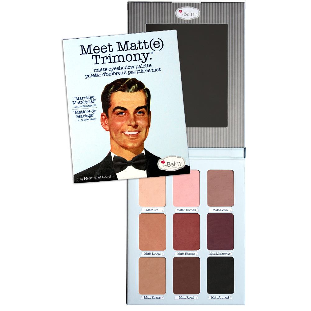 theBalm Cosmetics Meet Matt(e) Trimony