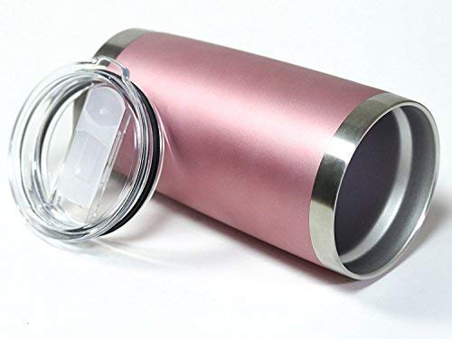 CHILLOUT LIFE 20 oz Stainless Steel Tumbler with Lid & Gift Box - Rose Gold Tumbler - CHILLOUT LIFE