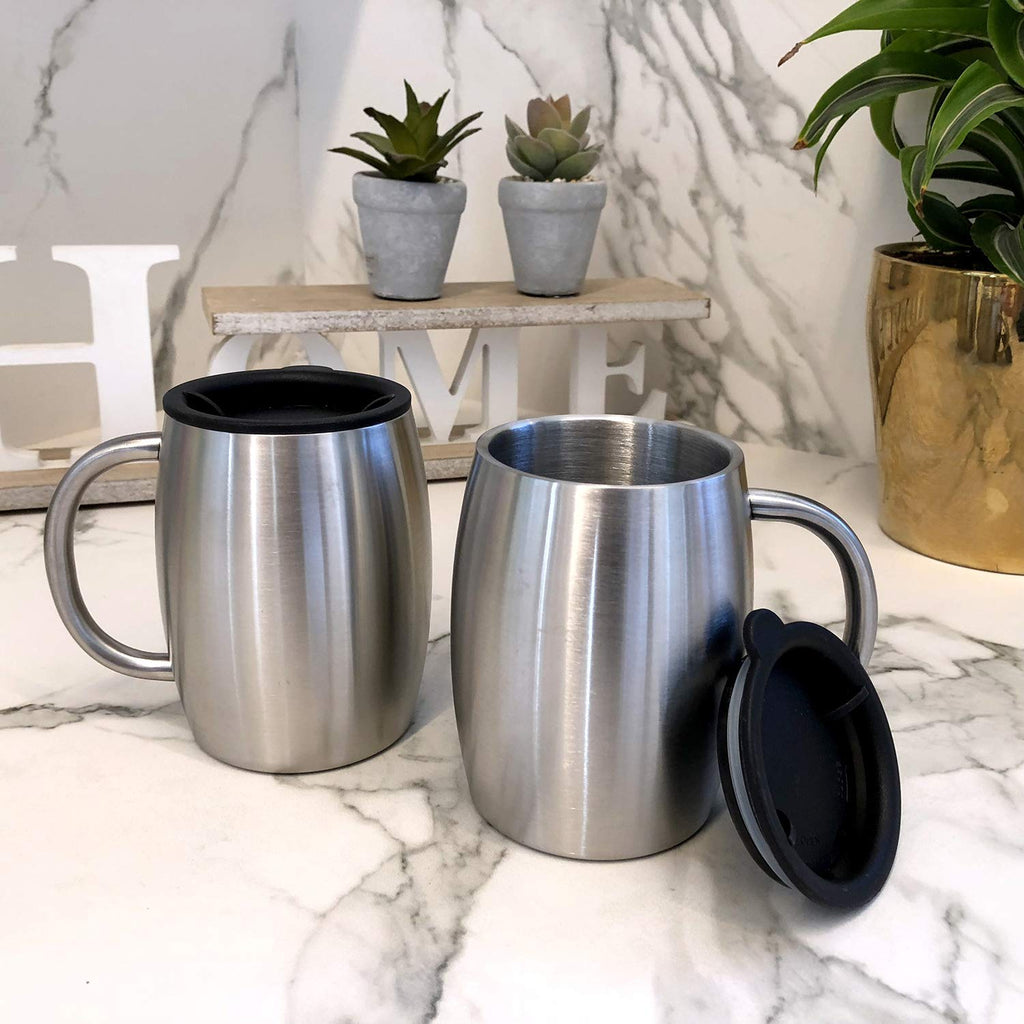 Stainless Steel Insulated Coffee Mugs Set of 2 (14oz) - CHILLOUT LIFE
