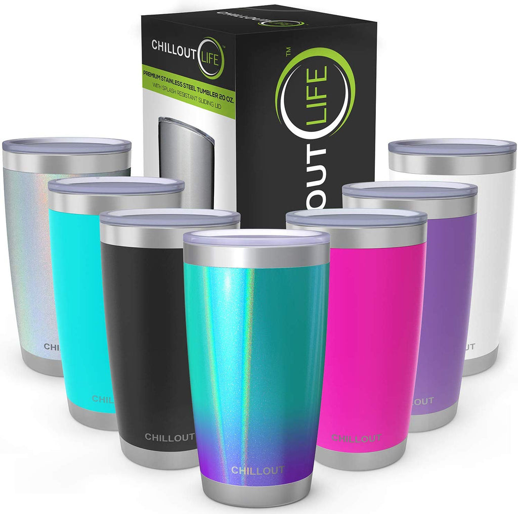 CHILLOUT LIFE 20 oz Stainless Steel Tumbler with Spill Proof Tritan Lid - CHILLOUT LIFE