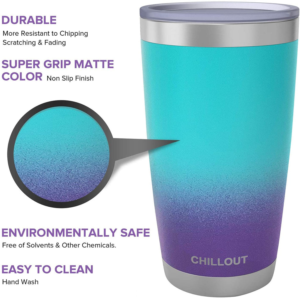 CHILLOUT LIFE 20 oz Stainless Steel Tumbler with Lid & Gift Box - Caribbean Lily Tumbler - CHILLOUT LIFE