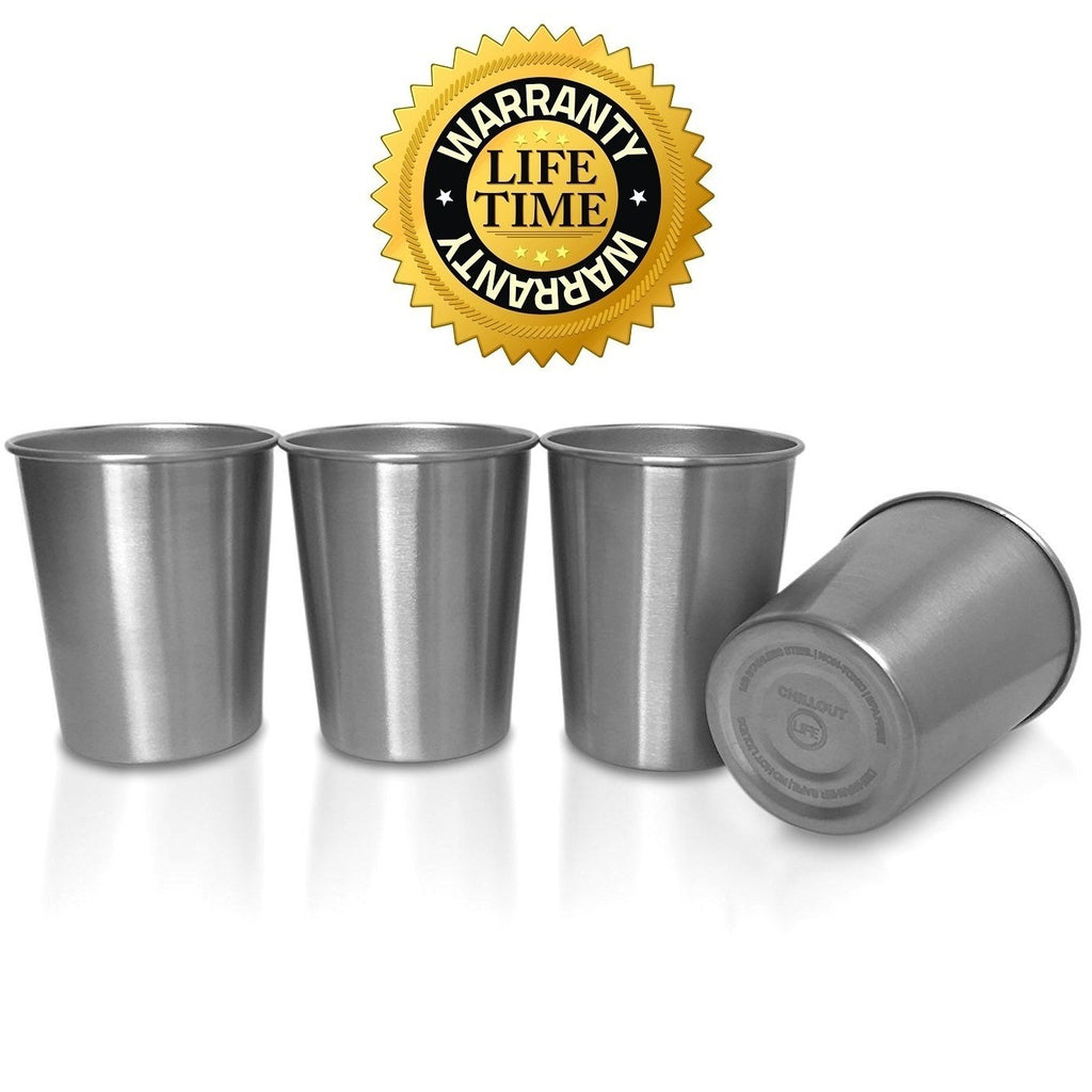 Stainless Steel Cups for Kids and Toddlers 8 oz (8 cups) - CHILLOUT LIFE