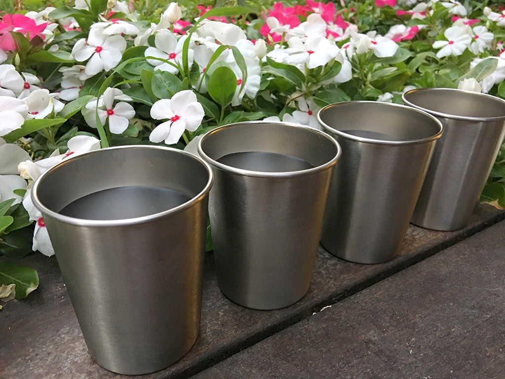 Stainless Steel Cups for Kids and Toddlers 8 oz (4-Pack) - CHILLOUT LIFE