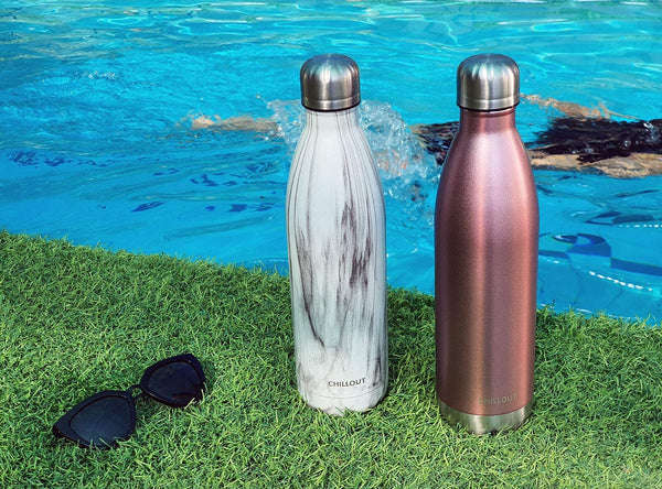 CHILLOUT LIFE Stainless Steel Water Bottle for for Boys, Girls & Adults: 25oz Double Wall Insulated Cola Bottle Shape - CHILLOUT LIFE