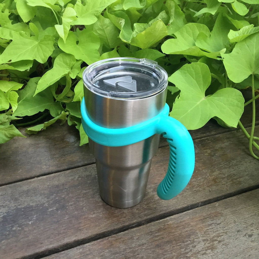 Handle for CHILLOUT LIFE Tumbler 30 oz / YETI / Ozark Trail & Other 30 oz Tumblers (Caribbean Blue, One Ring) - CHILLOUT LIFE