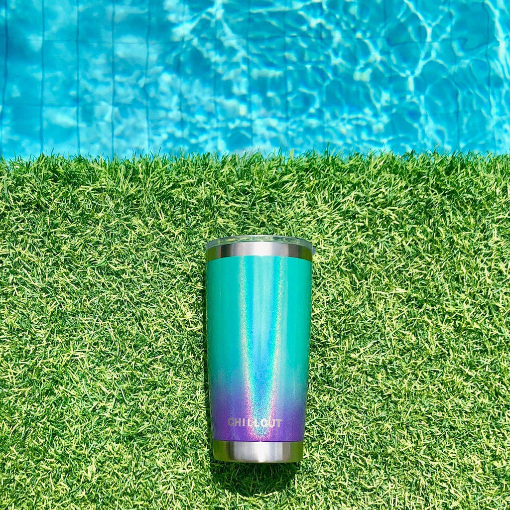 CHILLOUT LIFE 20 oz Stainless Steel Tumbler with Lid & Gift Box - Mermaid Sparkle - CHILLOUT LIFE