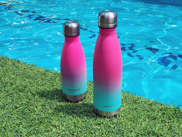 CHILLOUT LIFE Stainless Steel Water Bottle for Kids School and Adults: 17oz Double Wall Insulated Cola Bottle Shape - CHILLOUT LIFE