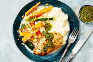 Roast Chicken & Creamy Mash - Julies Country Munch