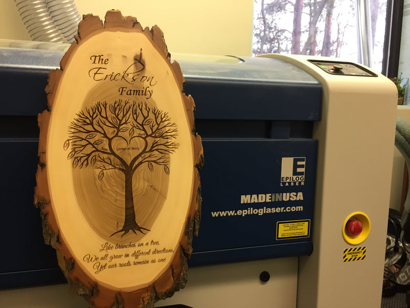 Now Introducing the Epilog Laser to Janish Woodworks, Inc.