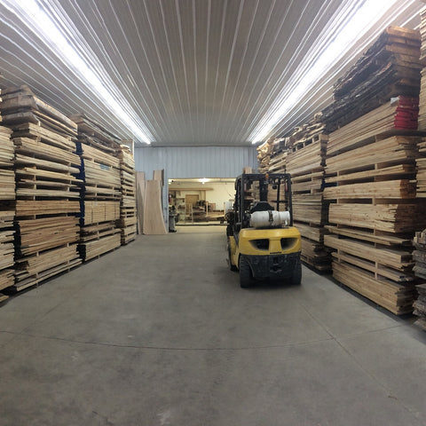 Our heated lumber warehouse