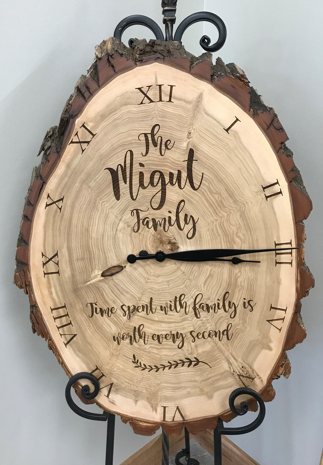 Custom Laser Engraved Clock