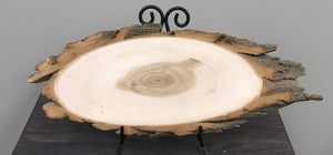 Black Willow Sanded Oval Wood Slice - XS