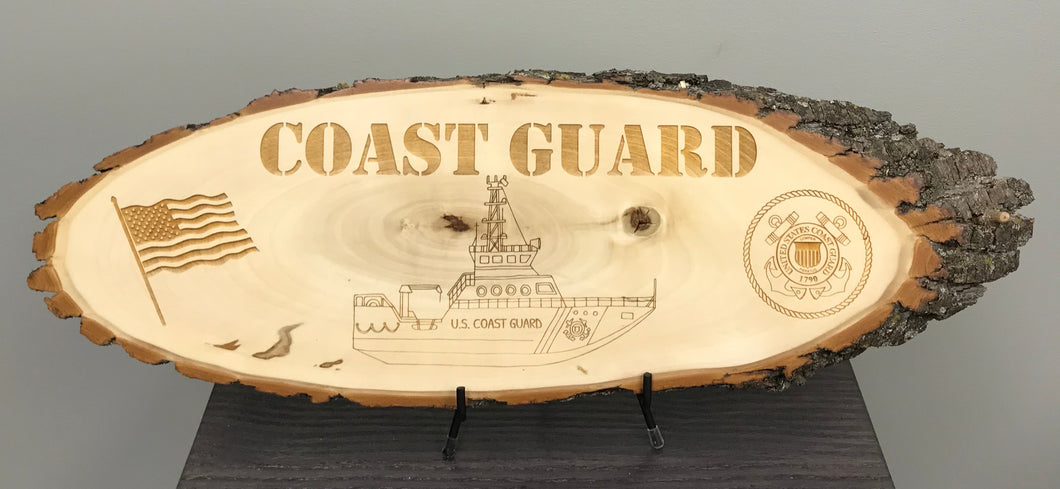Coast Guard Laser Engraved Wood Plaque